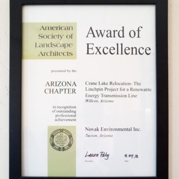 Novak Environmental, Inc. AZASLA Award of Excellence